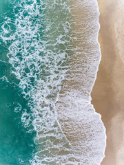 Aerial view of the ocean