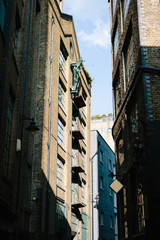 Old warehouse buildings in London