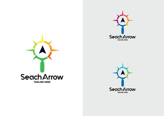 Search Arrow Logo Template Design Vector, Emblem, Design Concept, Creative Symbol, Icon
