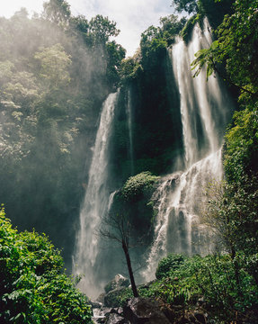 Amazing view of waterfall
