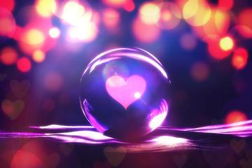 Fortune teller concept, Love prediction  , broken heart or get a new lover