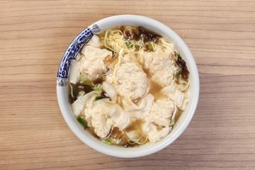 The big pork wonton soup- A popular Taiwan food