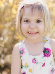 Young girly smiling at camera