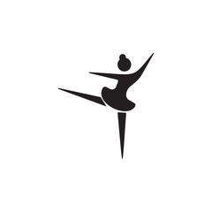 ballerina icon. Dance elements. Premium quality graphic design icon. Simple love icon for websites, web design, mobile app, info graphics