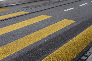 Yellow zebra crossing