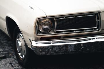 Off-white vintage car