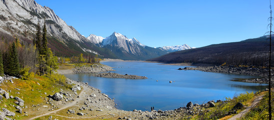 Medicine Lake in Jasper National Park, Alberta, Canada