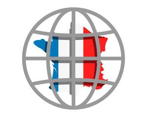 france circle globe image vector icon logo