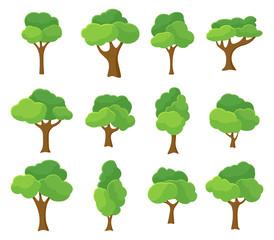 Cartoon garden green tree illustration