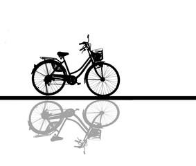 silhouette shadow vintage bike.