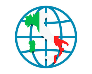 italy circle globe image vector icon logo