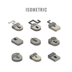 isometric. icon Computer mouse, vector symbol in style isolated on white background.