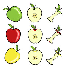 Vector set with apples
