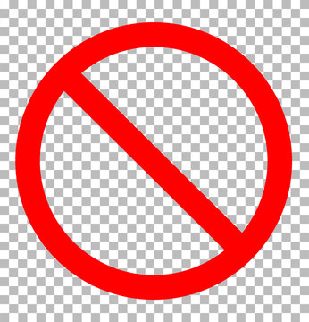 Prohibition Sign transparent. prohibition sign icon flat design style. prohibition sign sign.