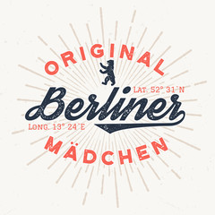 Original Berliner Mädchen - T-Shirt Design Zum Bedrucken