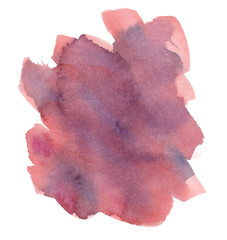 Pastel pink backdrop painted in watercolor on clean white background