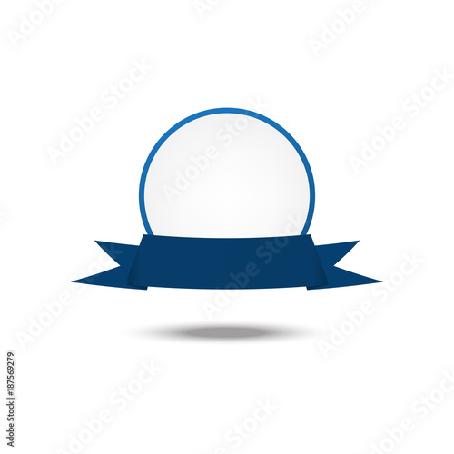 Vector Blue Ribbon Award Template
