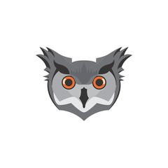 owl head. vector icon in EPS 10