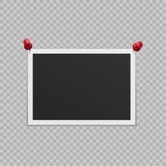 Blank photo frame.