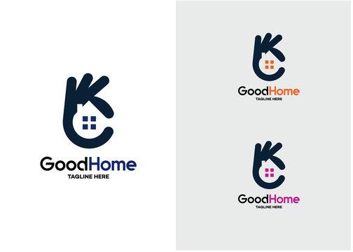 Good Home Logo Template Design Vector, Emblem, Design Concept, Creative Symbol, Icon