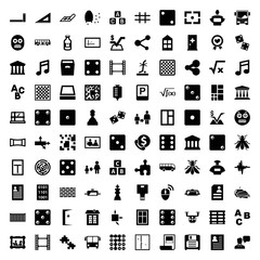 Square icons. set of 100 editable filled square icons