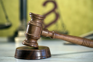 Law symbols. Court theme