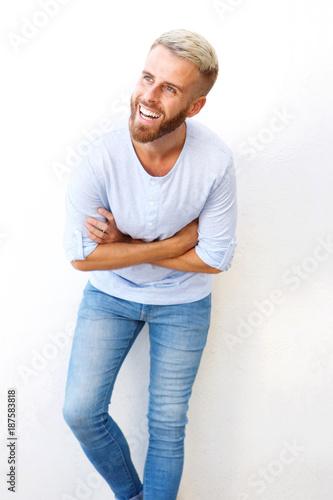 white guy laughing