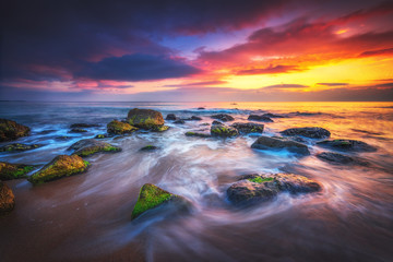 Sunrise over the beach