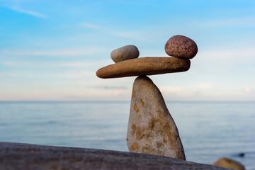 Stones at seashore