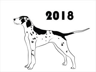 dog year logo
