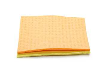 Clean sponge cloths isolated on white background