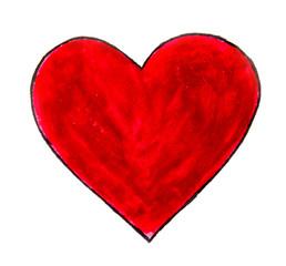 Heart. Watercolor