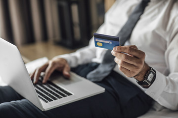 Businessman Using Credit Card