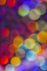 Crystal Bokeh Rainbow Vibrant Abstract Circles Background
