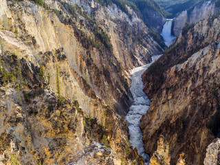 Grand Canyon of Yellowstone, Yellowstone National Park, Wisconsin, United States, North America