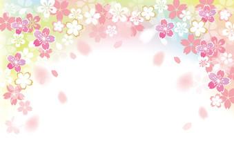 桜 フレームふわり カラー