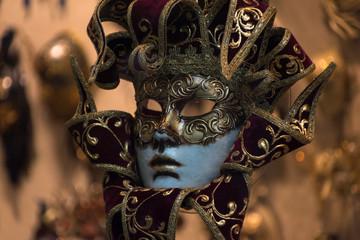 Wenecki karnawał maska tradycyjnych - Wenecja, Włochy