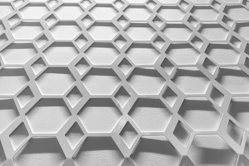 abstract hexagonal pattern for texture and background