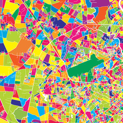 Ho Chi Minh City, Vietnam, colorful vector map