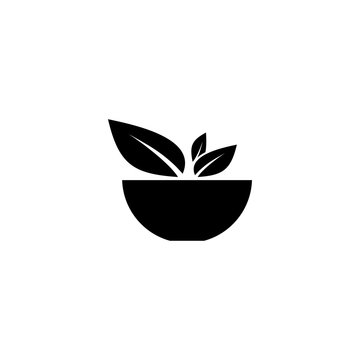 Cup with vegetables vector icon