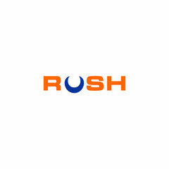 Rush Letter with Crescent Logo Vector