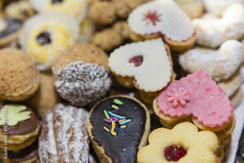 Different Types Of Christmas Cookies Stock Photo And Royalty Free