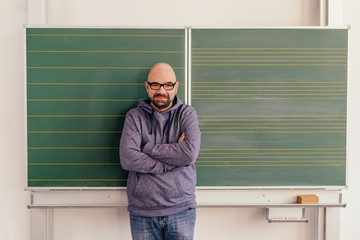 Portrait of a teacher wearing cool casual clothes