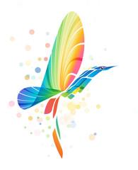 Abstract colorful fantasy bird