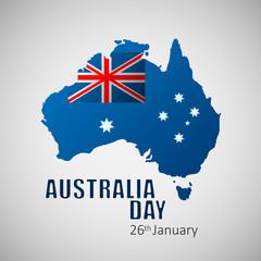 Happy Australia Day vector illustration for greeting card, poster and banner.