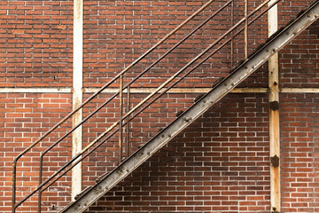 Brick Wall with a Ladder