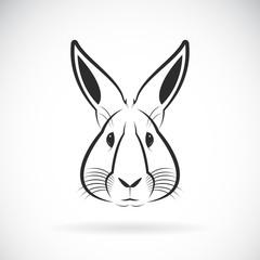 Vector of a rabbit head design on white background. Wild Animals. Vector illustration.