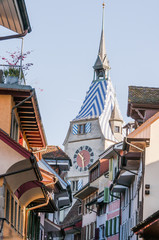 Stadt Zug, Stadt, Zug, Zytturm, Altstadt, Altstadthäuser, Zuger Altstadt, Stadtrundgang, Stadtmauer, Zugersee, Zentralschweiz, Schweiz