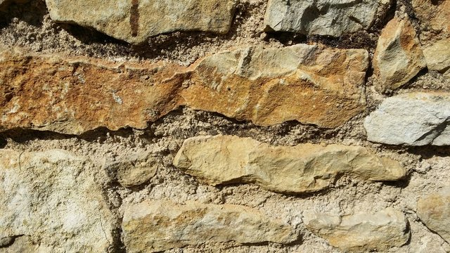 Old French Stone on Barn Wall