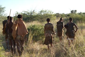 bushmen of the kalahari desert in africa